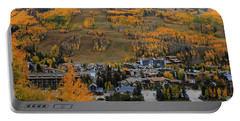 Vail Colorado Portable Battery Charger by Fiona Kennard