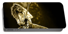 Van Halen Eddie Van Halen Collection Portable Battery Charger by Marvin Blaine