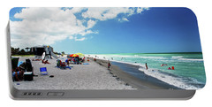 Portable Battery Charger featuring the photograph Venice Beach by Gary Wonning