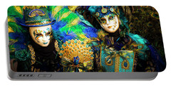 Venice Carnival I '17 Portable Battery Charger by Yuri Santin