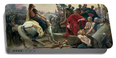 Vercingetorix Throws Down His Arms At The Feet Of Julius Caesar Portable Battery Charger
