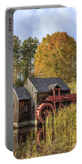 Portable Battery Charger featuring the photograph Vermont Grist Mill by Edward Fielding