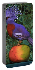 Victoria Crowned Pigeon On A Mango Portable Battery Charger