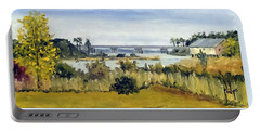 View From Sturgeon City Park Portable Battery Charger by Jim Phillips