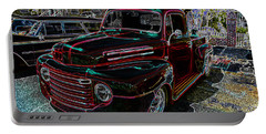 Vintage Chevy Truck Neon Art Portable Battery Charger