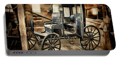 Vintage Horse Drawn Carriage  Portable Battery Charger by Judy Palkimas