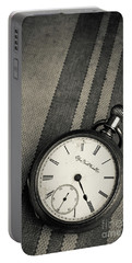 Portable Battery Charger featuring the photograph Vintage Pocket Watch by Edward Fielding
