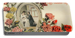 Vintage Valentine Postcard Portable Battery Charger by Patricia Hofmeester