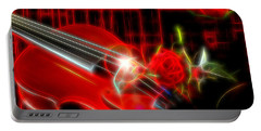 Violin And Roses Portable Battery Charger