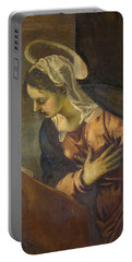 Virgin From The Annunciation To The Virgin Portable Battery Charger