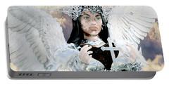 Vitiligo Angel Portable Battery Charger by Suzanne Silvir