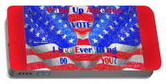 Portable Battery Charger featuring the digital art Wake Up America  by Rafael Salazar