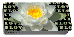 Water Lily Love Portable Battery Charger by Jeannette Hunt
