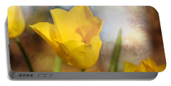 Water Lily Tulip Flower Portable Battery Charger