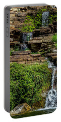 Water Over The Rocks One Portable Battery Charger by Ken Frischkorn