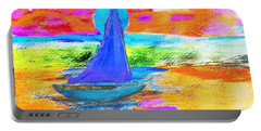 Watercolor Sailing Portable Battery Charger by Scott D Van Osdol