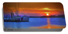 Watercolor Sunset Portable Battery Charger