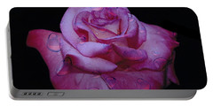 Watered Red Rose Portable Battery Charger