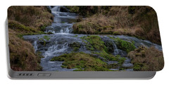 Portable Battery Charger featuring the photograph Waterfall At Glendevon In Scotland by Jeremy Lavender Photography