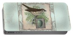 Welcome To Our Nest - Vintage Bird W Egg Portable Battery Charger