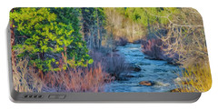 West Fork Rapids Portable Battery Charger by Nancy Marie Ricketts