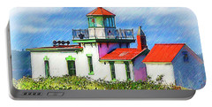 West Point Lighthouse Sketched Portable Battery Charger