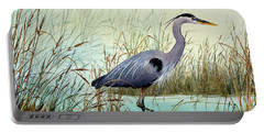 Portable Battery Charger featuring the painting Wetland Beauty by James Williamson