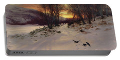 When The West With Evening Glows Portable Battery Charger by Joseph Farquharson