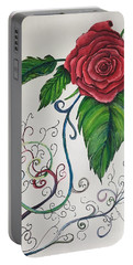 Whimsical Red Rose Portable Battery Charger