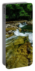 Whitaker Falls In Summer Portable Battery Charger
