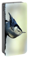 White Breasted Nuthatch Wading River New York Portable Battery Charger by Bob Savage