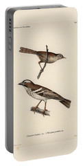 White-browed Sparrow-weaver And Grass Or Bush Warbler Portable Battery Charger