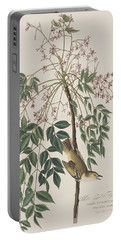 White-eyed Flycatcher Portable Battery Charger by John James Audubon