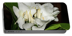 White Flower Portable Battery Charger by James Gay