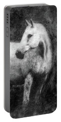 White Horse Portrait Portable Battery Charger