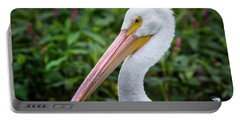 Portable Battery Charger featuring the photograph White Pelican by Robert Frederick