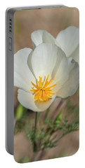 Portable Battery Charger featuring the photograph White Poppies  by Saija Lehtonen