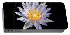 Portable Battery Charger featuring the photograph White Water Lily by Steve Stuller