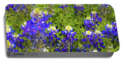 Wild Bluebonnets Blooming Portable Battery Charger