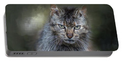 Wild Cat Portrait Portable Battery Charger