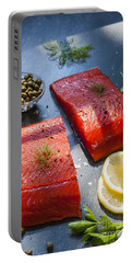 Wild Salmon Steaks Portable Battery Charger