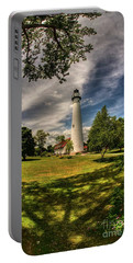 Wind Point Lighthouse Portable Battery Charger by David Bearden