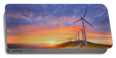 wind turbines in Oiz eolic park Portable Battery Charger