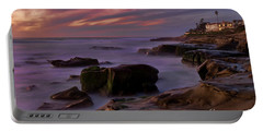 Windansea Beach At Dusk Portable Battery Charger