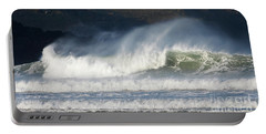 Windy Seas In Cornwall Portable Battery Charger