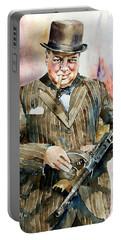 Winston Churchill Portrait Portable Battery Charger