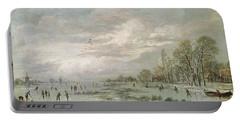 Winter Landscape Portable Battery Charger