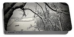Portable Battery Charger featuring the photograph Winter Scene In Switzerland by Susanne Van Hulst