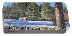 Winter Scene Portable Battery Charger by Tricia Marchlik