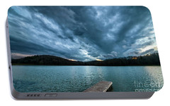 Portable Battery Charger featuring the photograph Winter Storm Clouds by Thomas R Fletcher